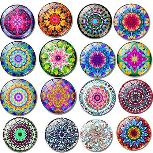 Fridge Magnets16 PCS Beautiful Glass Refrigerator Magnets Funny Fridge Stickers for Stainless Steel Refrigerator,Flower Magnet for Office, Calendar,Air conditioner,Whiteboard Magnets (16 pcs Flower) -