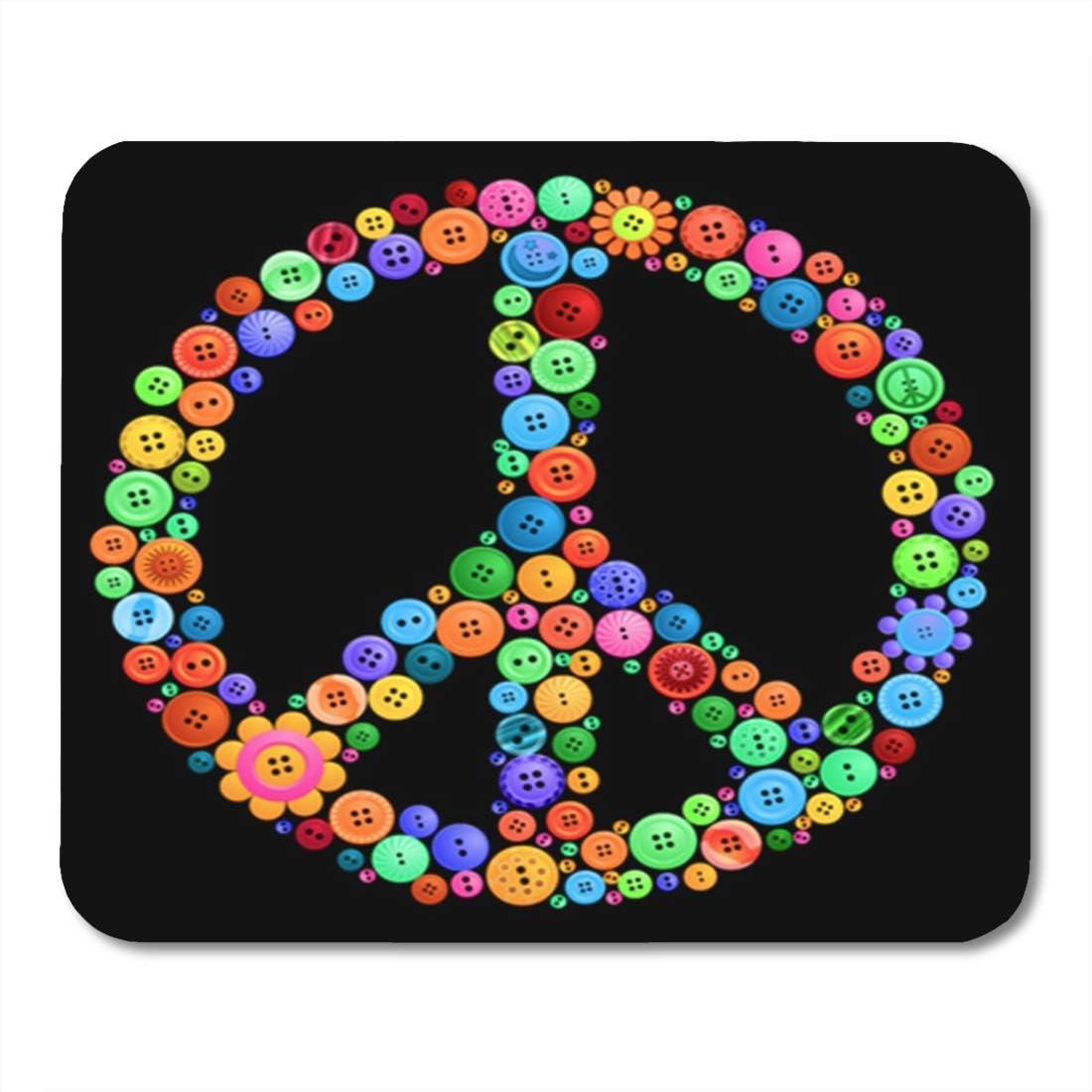 Yilan Gaming Mouse Pad Símbolo Signo de la Paz Hecho de ...