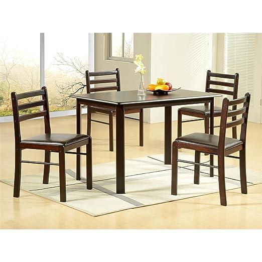 Ideal para muebles Hudson 114 cm wengué mesa de comedor con 4 ...