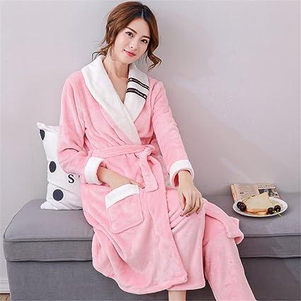Un par de invierno polar Coral Pijama hombre franela albornoz Camisón femenino masculino ropa Home Furnishing