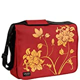 17 Inch Laurex Notebook/Laptop/Messenger Bag (Red Blossom)