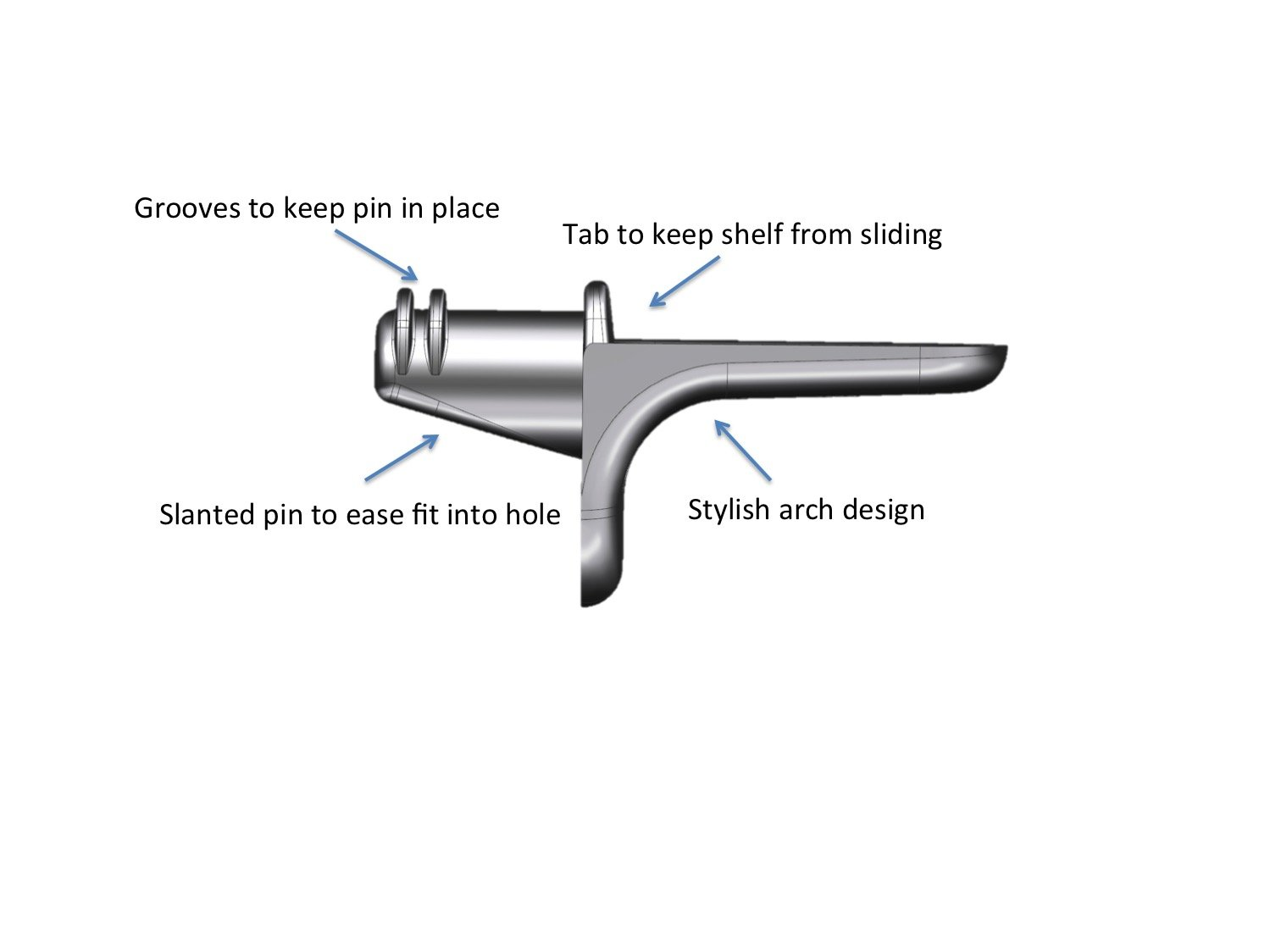 5 mm Shelf Support Peg / Pin Bracket Stainless Steel 100 pack by ecoMIM (Image #3)
