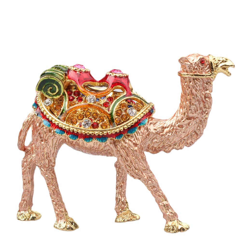 EAPTS Camel Trinket Boxes Ornament Crystals,Hand-Painted Patterns Jewelry Box Holder by EAPTS