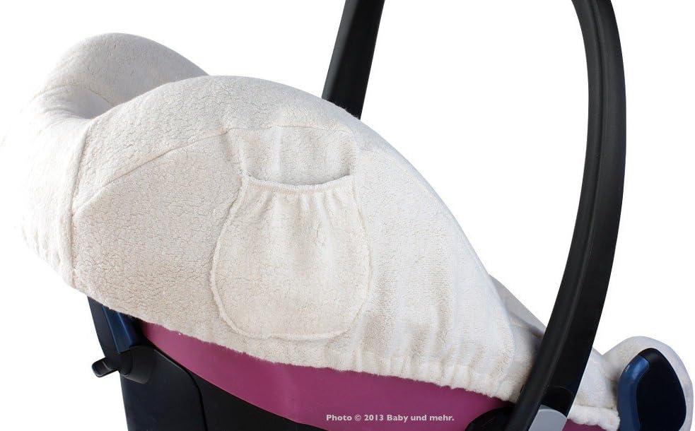 ByBoom/®/ universelle Couleur : blanche Pebble /à lignes c 100/% en coton /Housse d/ét/é de protection City SPS Con/çue pour si/ège auto pour b/éb/é par exemple pour Maxi-Cosi CabrioFix
