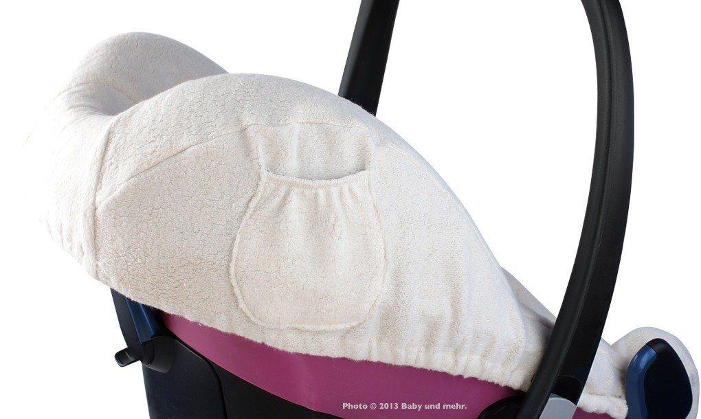 Pebble; Designed in Germany z.B Frottee Sommerbezug ByBoom Schonbezug f/ür Babyschale Farbe:Beige City MADE IN EU Maxi Cosi CabrioFix Autositz