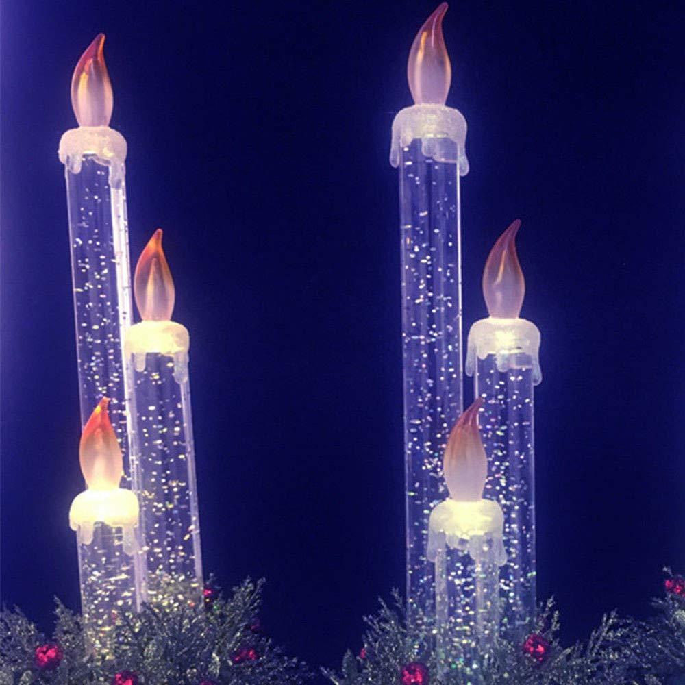 Albero Di Natale Decorazione Per Feste Lume Di Candela Accessori Elettronici Per La Casa Regalo Di Natale Senza Fiamma Bianco 10 36Cm