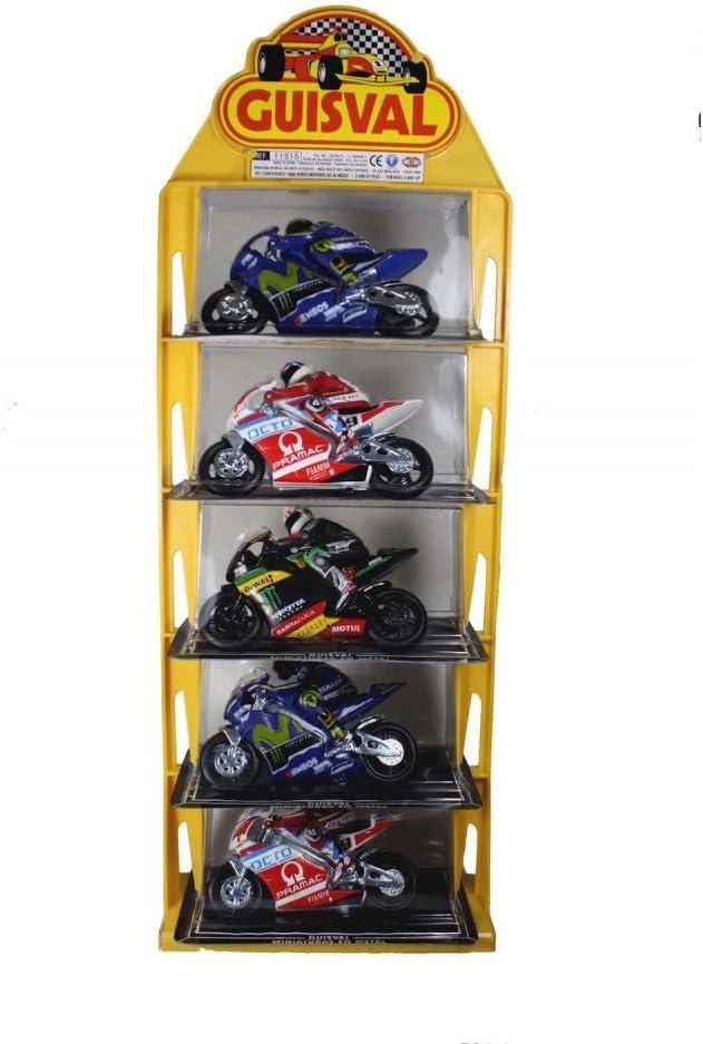 Guisval- Set de 5 Piezas, Motos Competición GP Escala 1:22 (Faseba 16151)