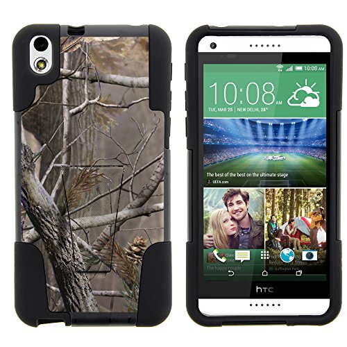 HTC Desire 816 Case - Full Body Fusion STRIKE Impact Kickstand Case with Exclusive Illustrations for HTC Desire 816 Virgin Mobile from MINITURTLE Includes Clear Screen Protector and Stylus Pen - Hunter Camouflage
