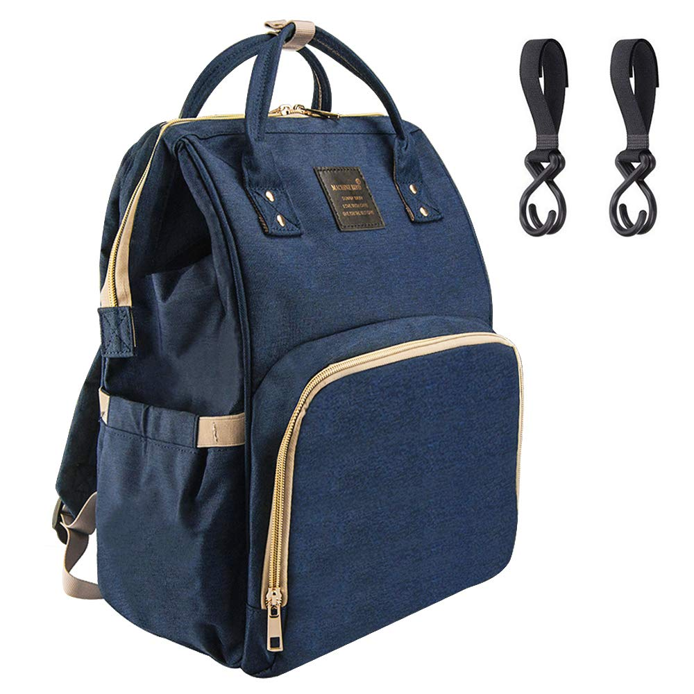 Diaper Bag Backpack Multi-Function Waterproof Travel Baby Nappy Bag Large Capacity Stylish Durable Changing Backpack with Stroller Straps-Insulated Bottle for Baby Care - Blue Singularity Products