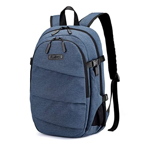 Cuaderno de Ordenador de Bolsillo cinturón Recargable Boca Impermeable Viaje Negocio Robo (Color: Azul