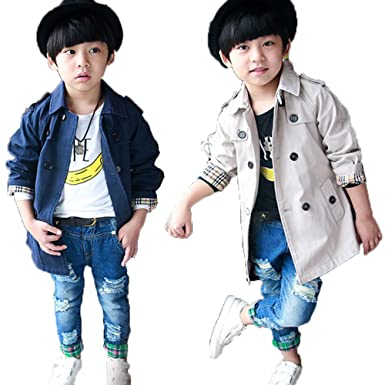 f01e01bcb8a79  ノーブランド品 男の子 子供 コート キッズ トレンチコート フォーマル スプリングコート韓国子供