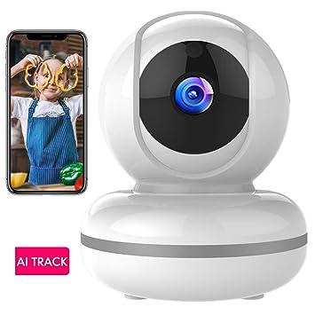 Cámara de Vigilancia WiFi Mibao 1080P Cámara IP Inalámbrica, HD Visión Nocturna, Detección de Movimiento Remoto, Alarma de Correo Electrónico, Audio ...