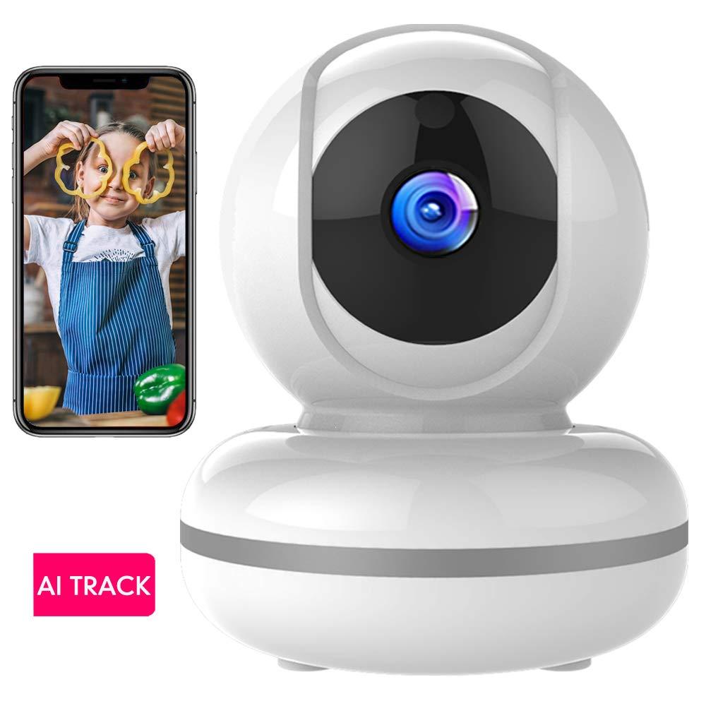 Cámara de Vigilancia WiFi Mibao 1080P Cámara IP Inalámbrica, HD Visión Nocturna, Detección de Movimiento Remoto, Alarma de Correo Electrónico, Audio Bidireccional, Monitor para Bebé/Mascota product image