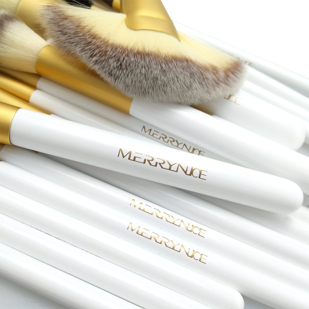 18pcs Makeup Brush Set, Beautiful Case,Perfect for Foundation Face Powder Blending Blush Bronzer Eyeliner Eye Shadow Brows