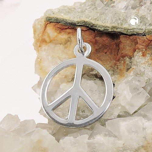 f89c3f7c132b Anhänger Zeichen Peace aus echtem 925 Silber Silberanhänger Unisex   Amazon.de  Schmuck