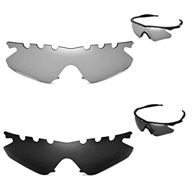 walleva polarizadas titanio + negro antidestellos lentes de repuesto para Oakley M Frame Heater gafas de