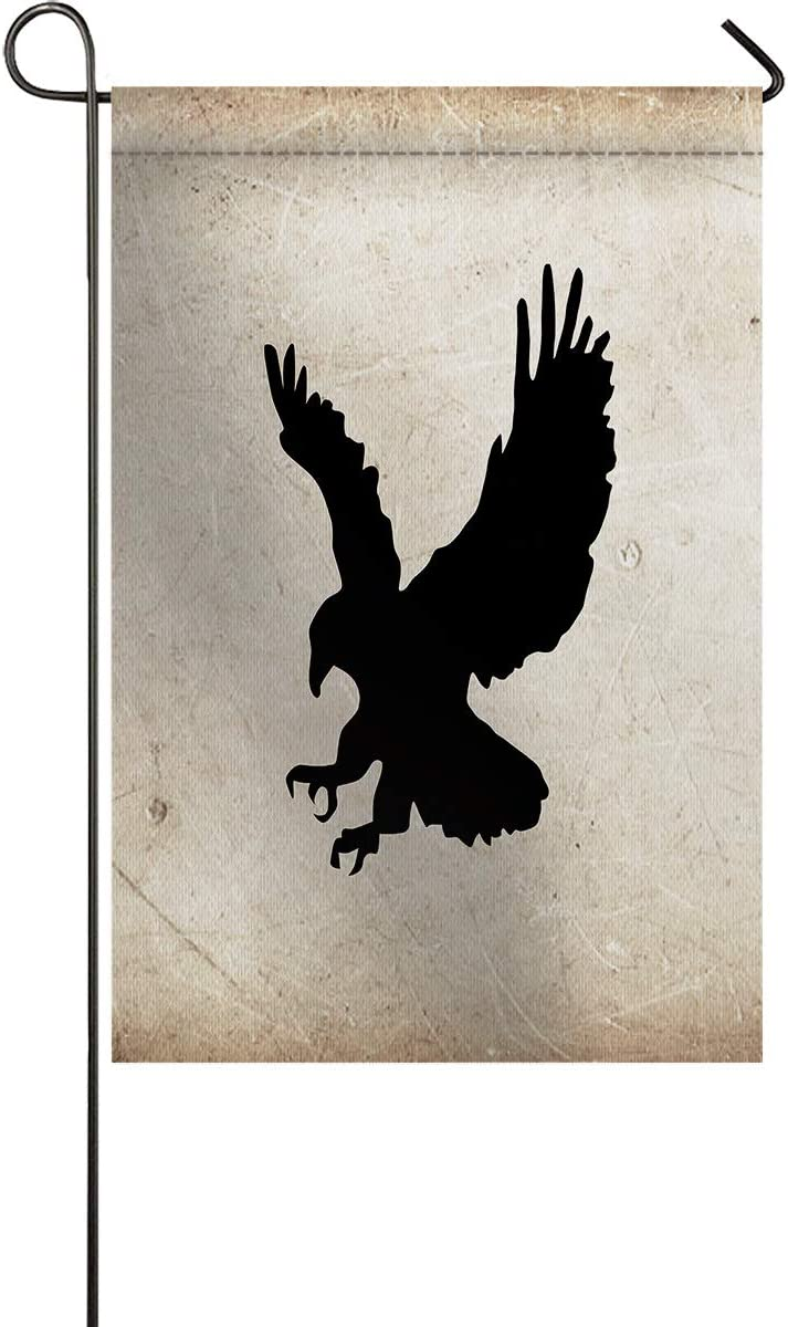 Meet 1998 Soaring Eagle Silhouette Garden Flag Double Sided House Banner Yard Flags for All Seasons Outdoor Indoor Farmhouse Wedding Party Yard Lawn Porch Patio Party Retro 12x18inch