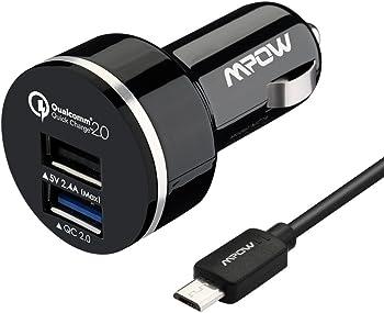 Mpow QC 2.0 30W 2 Ports USB Car Charger