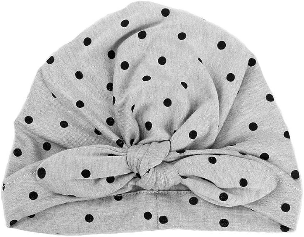 alpscale Cute Polka Dot Print Knot Rabbit Turban Hat for Baby Girls Cap