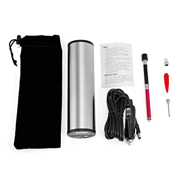 ecombird inflador de neumáticos, USB Batería de 12 V Compresor de aire digital Neumático Bomba de ...