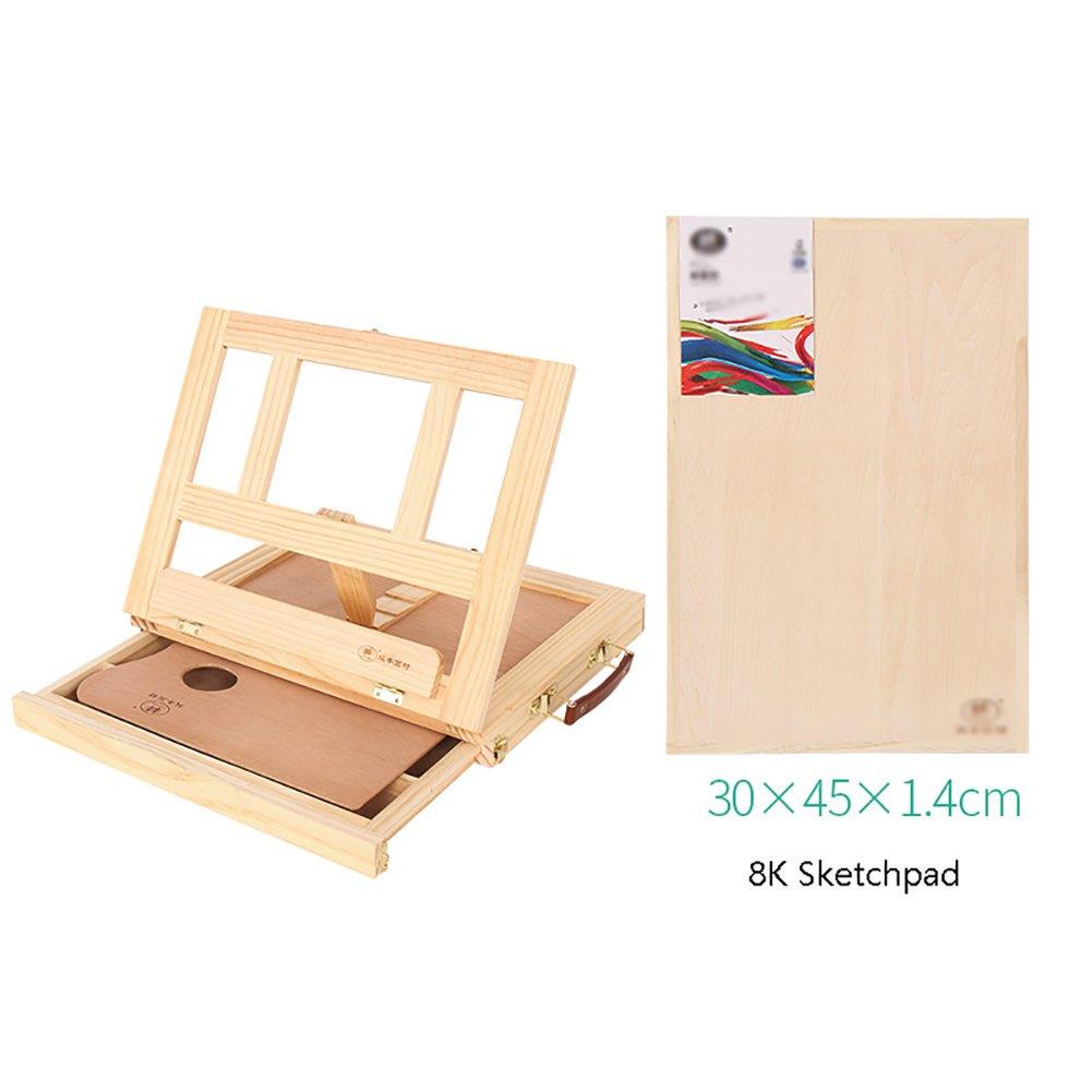 パインウッド油絵絵画フレームイーゼルドローイングボックスデスクトップ木製イーエルズ引き出し型イーゼル水彩アクリルはA3 8Kスケッチボードでセット (色 : : Easel+A3 sketch board) B07FBZXRCV board Easel+A3 sketch board B07FBZXRCV, 良品会議:f911736e --- ijpba.info