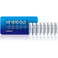 Panasonic eneloop AA Rechargeable Ready-to-Use Ni-MH Batteries, Pack of 8. (BK-3MCCE/8LE)