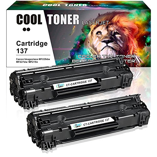 Canon Laser Oem Cartridge (Cool Toner 2 Pack Cartridge 137 Toner Cartridge Replacement For Canon Cartridge 137 Crg137 Imageclass MF229Dw MF227Dw MF216N MF247Dw MF212W MF249Dw MF244Dw MF236N Lbp151dw MF217W Printer Ink Cartridge)