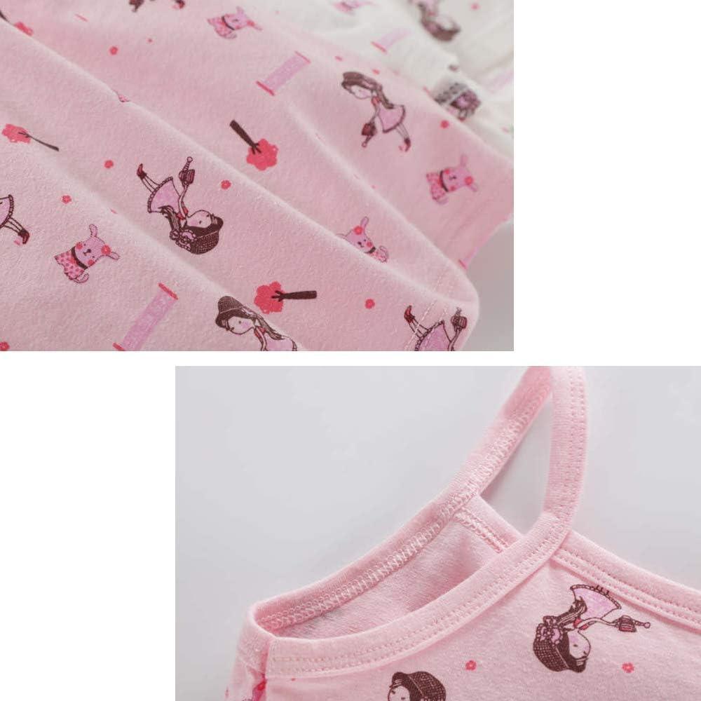 Kidear Serie Kid per Bambine Piccole Confezione da 2-4 Pezzi Maglietta in Cotone Morbido Canotta Canottiera