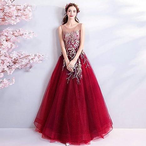 Vestiti Cerimonia Di Marca.Ty Er Abito Da Cerimonia Di Gala Rosso Di Lusso Colore Rosso
