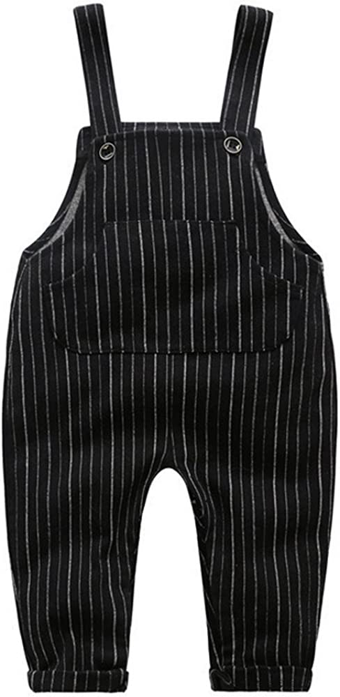 Ding Dong Baby Toddler Boy Girl Striped Overalls