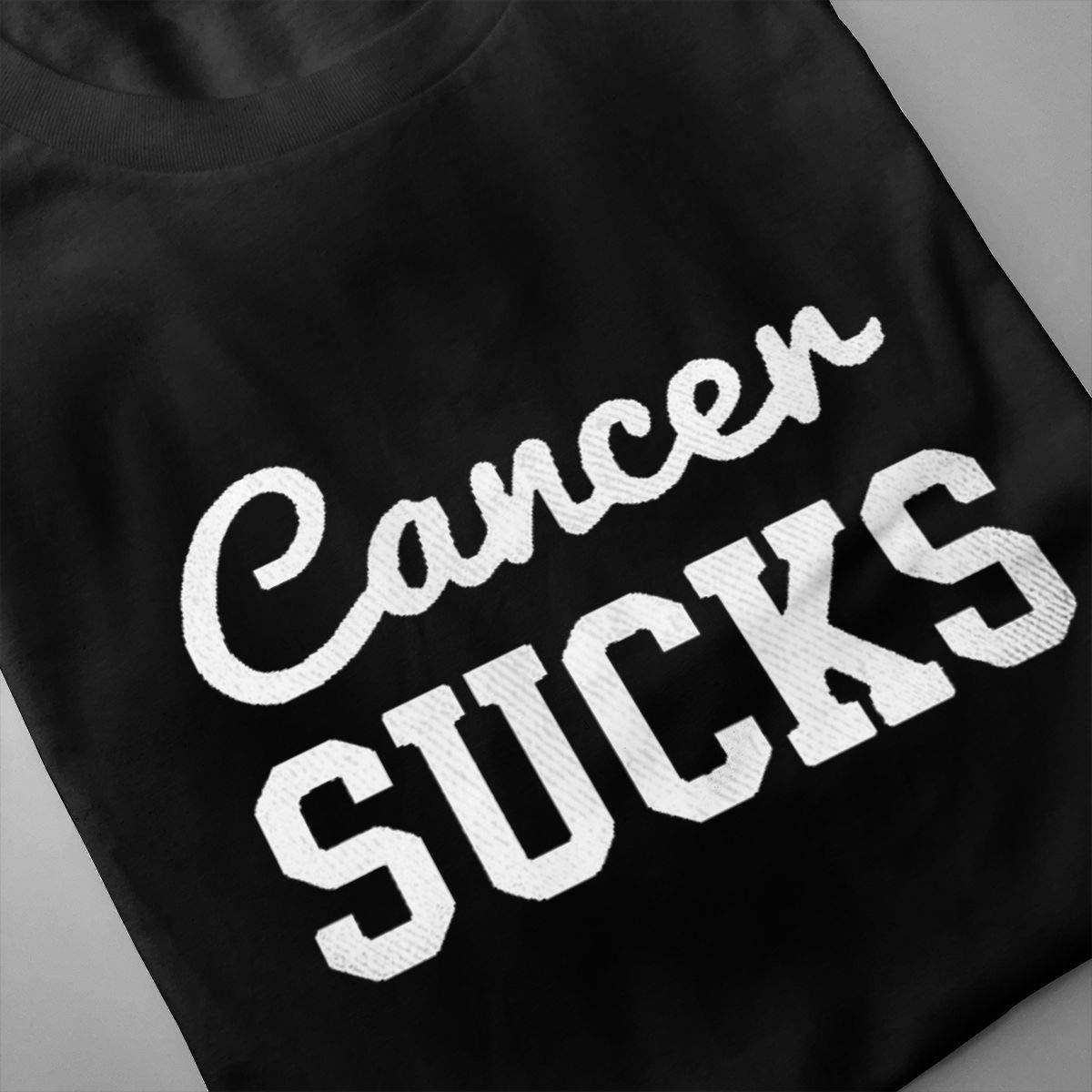 Marsherun Mens Cancer Sucks Slim Short Sleeve T Shirts