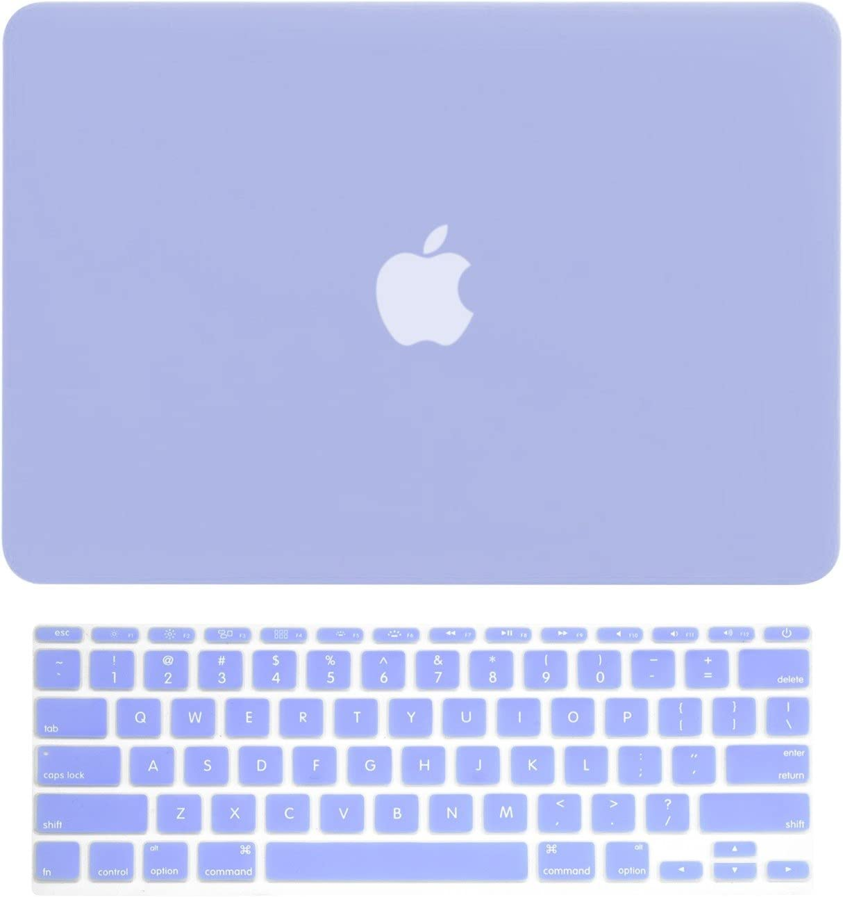 "TOP CASE - 2 in 1 Signature Bundle Rubberized Hard Case and Matching Color Keyboard Cover Compatible MacBook Air 11"" (A1370 and A1465) - Serenity Blue"