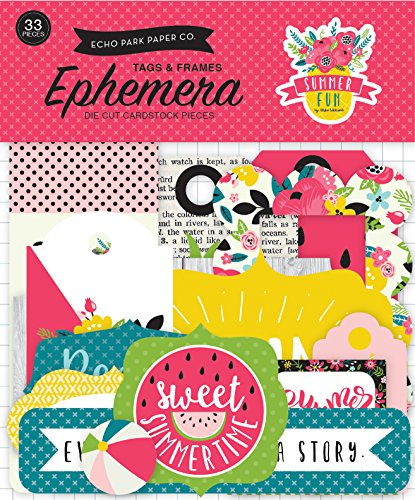 Echo Park Paper Company Summer Fun Frames & Tags Ephemera ()