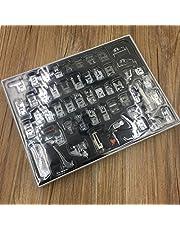 icase4u® Kit de 52 Piezas Multifuncional Prensatelas Accesorios para Máquina de Coser Presser Foot Feet