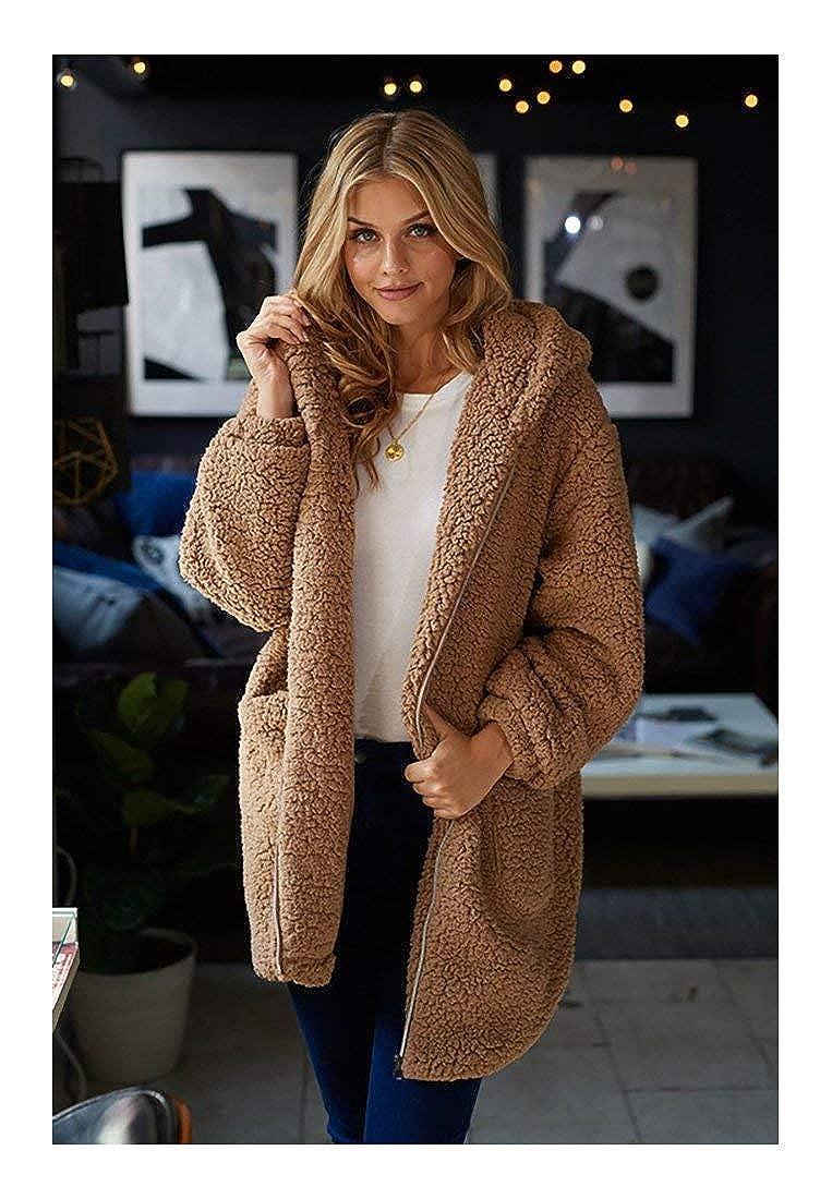 Beige White Birch Zipper Front Long Sleeve Solid Woven Hoodie Sweater