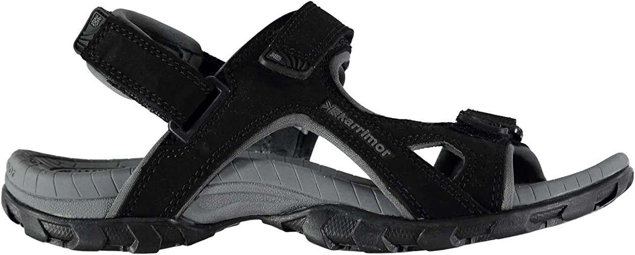 Childrens Karrimor Antibes Black Red Walking Outdoor Kids Sandals