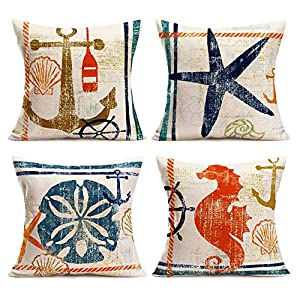61RBhokchZL._SS300_ 100+ Nautical Pillows & Nautical Pillow Covers