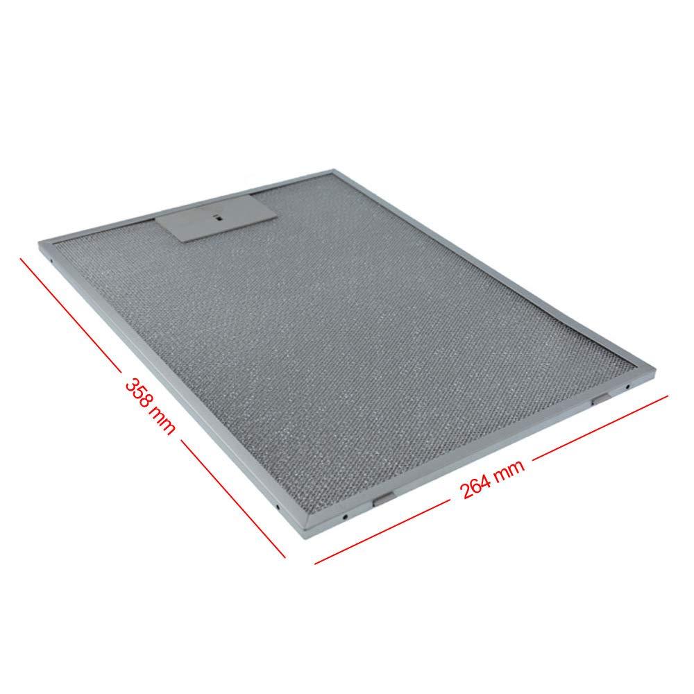 Filtro de grasa de metal, 370 x 265 mm, apto para campana ...