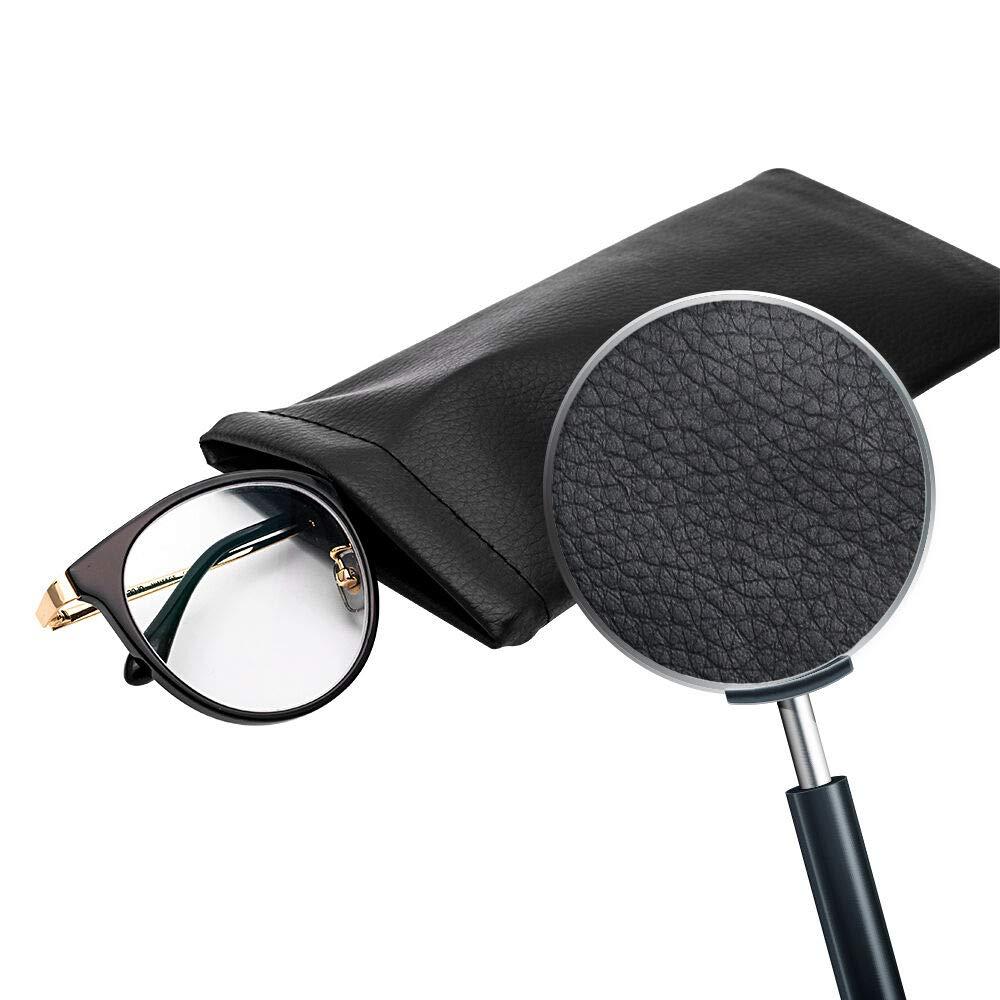 Soft Leather Quality Snap Close Top Glasses Case Sleeve Eyeglasses Travel Slip In Eyeglasses Bag Case Pouch Holder