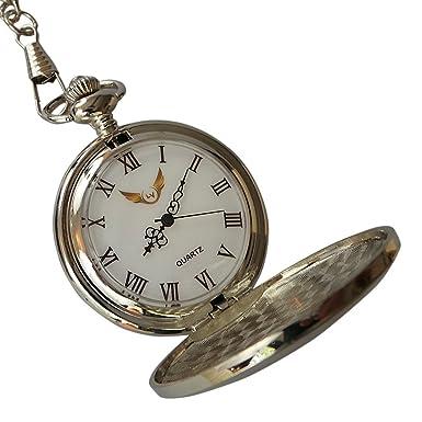 Bombero Plata reloj de bolsillo y Firemans casco llavero ...