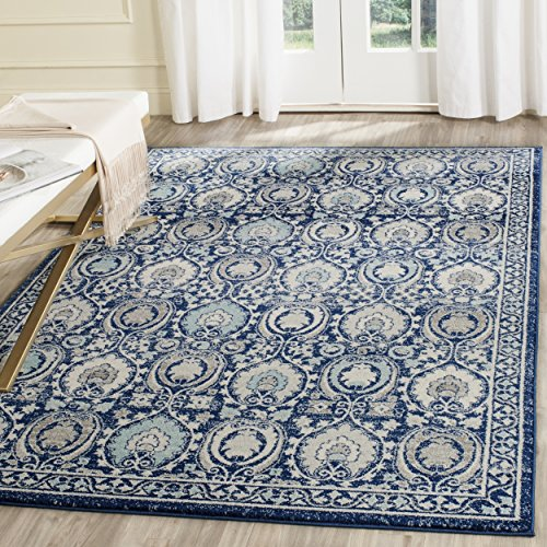 Safavieh Evoke Collection EVK251C Contemporary Blue and Ivory Area Rug (8' x 10')