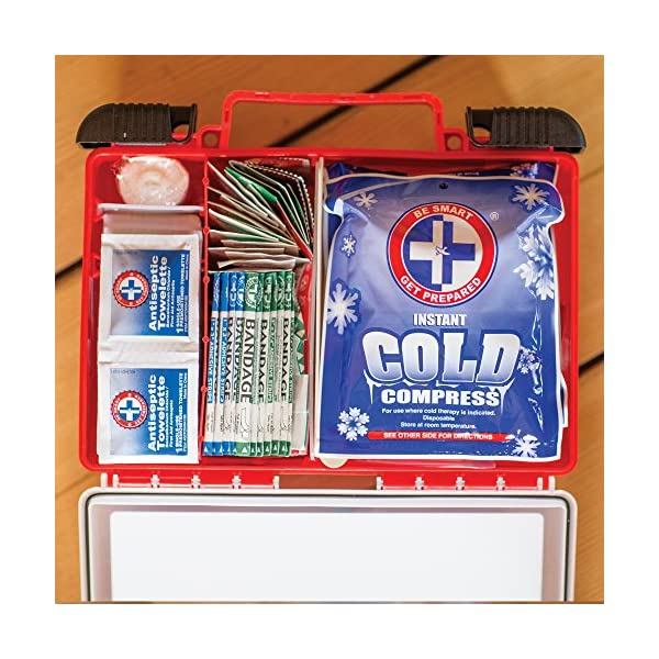 Be Smart Get Prepared 250 Piece First Aid Kit Exceeds OSHA ANSI Standards For 50 People Office Home Car School Emergency Survival Camping Hunting And Sports