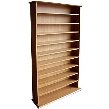 HARROGATE   CD / DVD / Blu Ray Media Storage Shelves   Oak