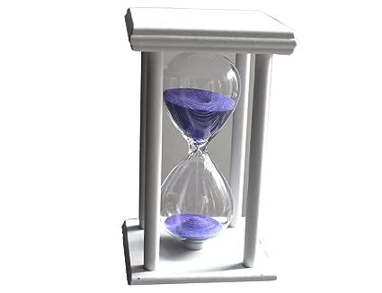 El reloj de arena de color morado y blanco susu2 chasis clásico de 15 minutos
