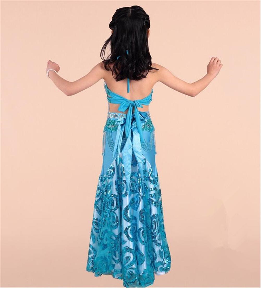 Wgwioo Prinzessin Bauchtanz Bauchtanz Bauchtanz Rock Mädchen Indien Diamant Sequins Handgefertigte Tüll Stickerei MultiFarbe Kinder Party Modern Professionelle Performance Kleider Kostüm B06Y4CCC47 Bekleidung Moderne Technologie caefcc