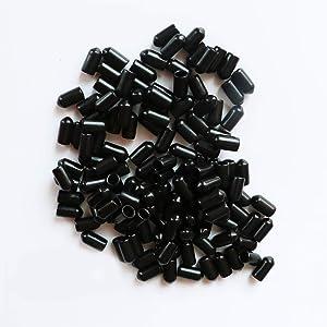 "YEJI 100 Pcs 1/4"" Black Screw Thread Protectors"