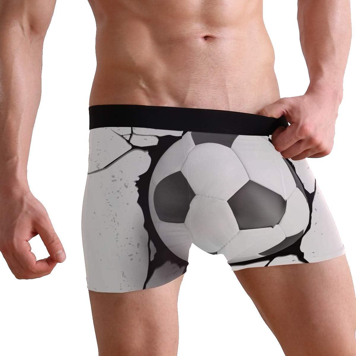 MOFEIYUE Mens Boxer Briefs Sport Soccer Ball Soft Short Underpants Underwear for Men Boys