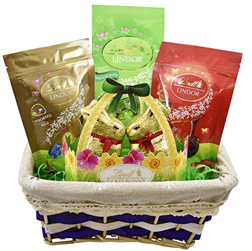 Gift universe easter gift basket with lindt milk white prev negle
