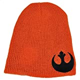 Star Wars Reversible Knit Beanie Galactic Empire Rebel Alliance Orange Blk Hat