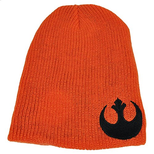 Star Wars Reversible Knit Beanie Galactic Empire Rebel Alliance Orange Blk Hat
